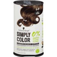 Schwarzkopf Simply Color Permanent Hair Color, 6.0 Cool Brown