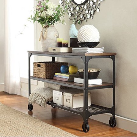 INSPIRE Q Nelson Industrial Modern Rustic Console Sofa Side Table TV Stand for Living Room ()