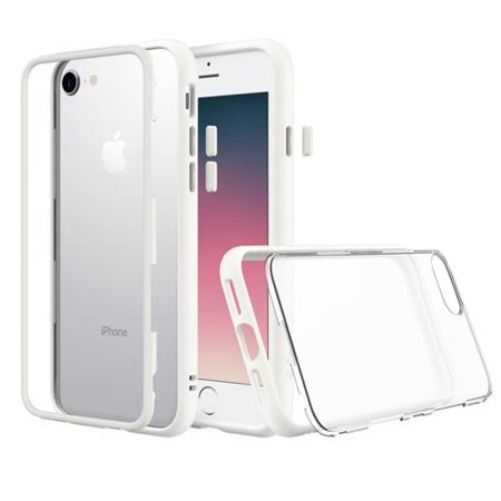 cea81e297 RhinoShield MOD for iPhone 7/iPhone 8 - Modular Case with Rim, Button,  Frame, Clear Back Plate - White - Walmart.com
