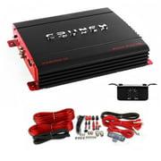Crunch PX-2000.1D 2000 Watt Monoblock 1 Ohm Stable Power Amplifier + Wiring Kit