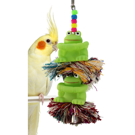 Bonka Bird Toys 1085 Duo Frog Plucker Bird Toy.