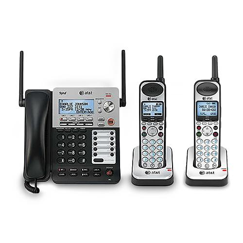 AT&T SB67138 + (1) SB67108 3 Handset Corded / Cordless Phone 4 Line