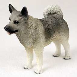 Norwegian Elkhound Dog Figurine