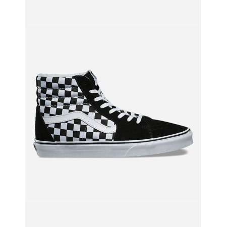 Vans Sk8 Hi Checkerboard (Vans SK8 Hi Checkerboard Black/True White Women's Skate Shoes Size 6.5)