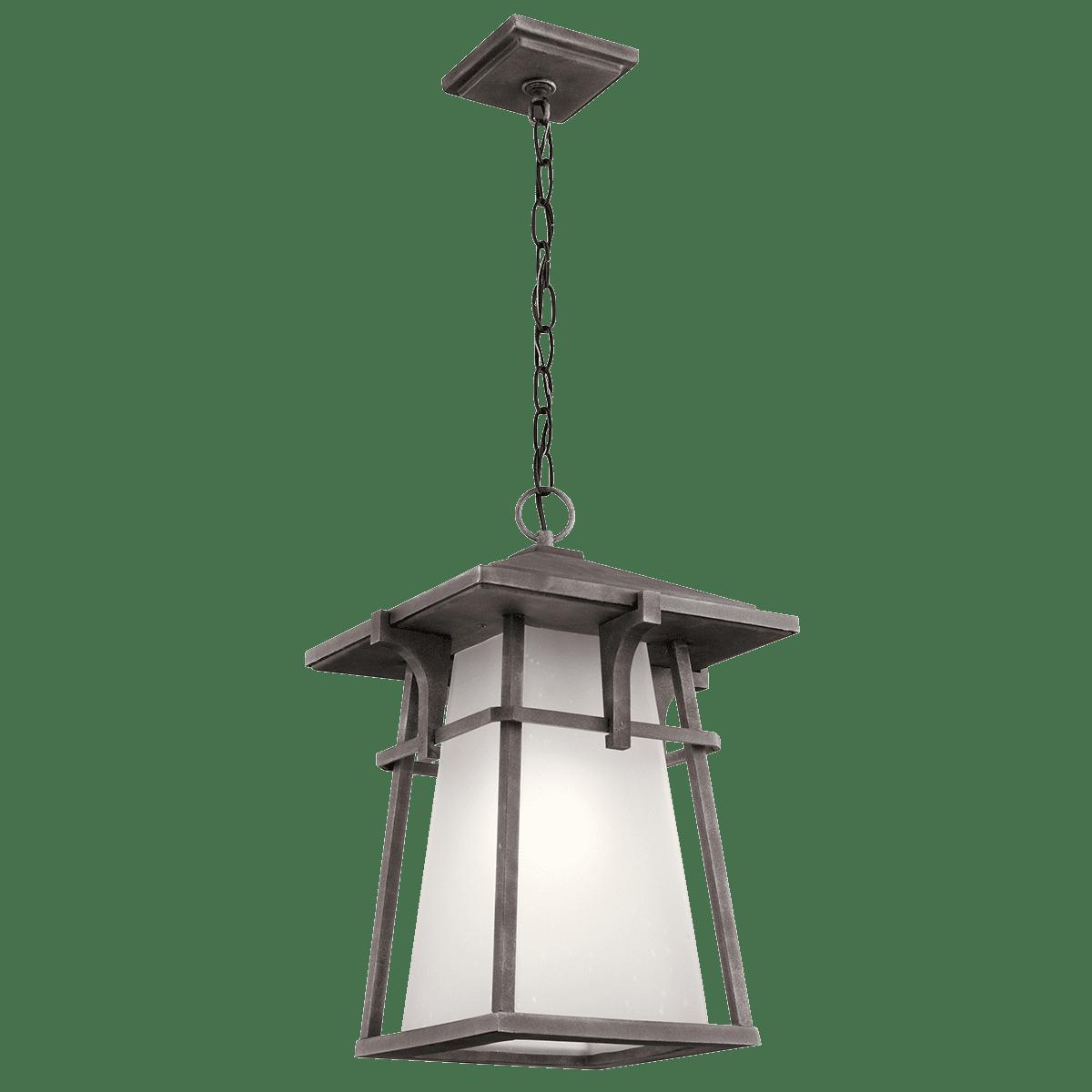 Kichler 49725 Beckett 12 25 Wide 1 Light Outdoor Lantern Pendant Weathered Zinc Walmart Com Walmart Com