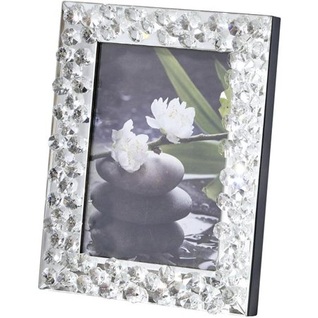 Sparkle 8 in. Contemporary Crystal Photo frame in Clear ()