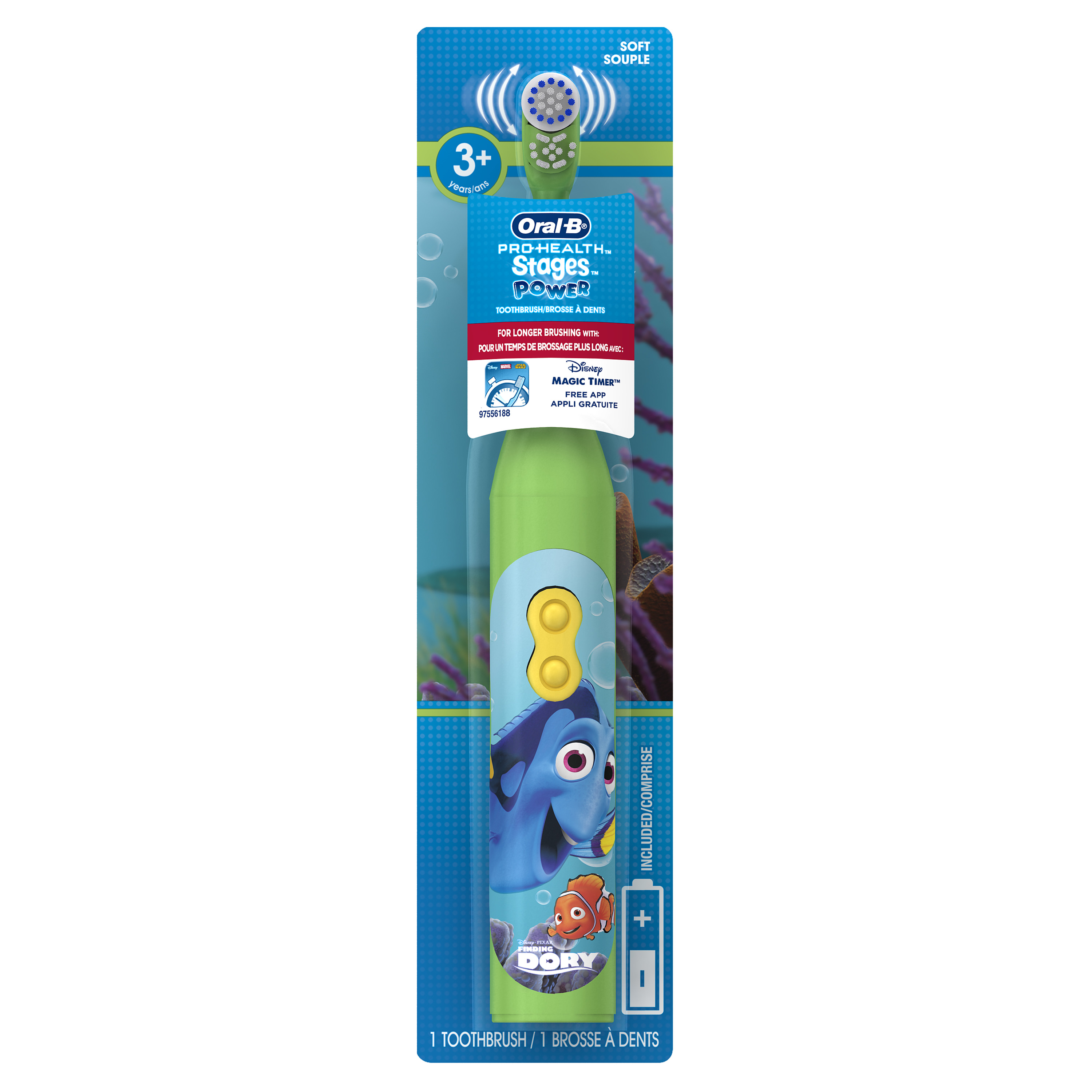 Oral-B Pro-Health Stages Battery Toothbrush featuring Disney and Pixar's Finding Dory