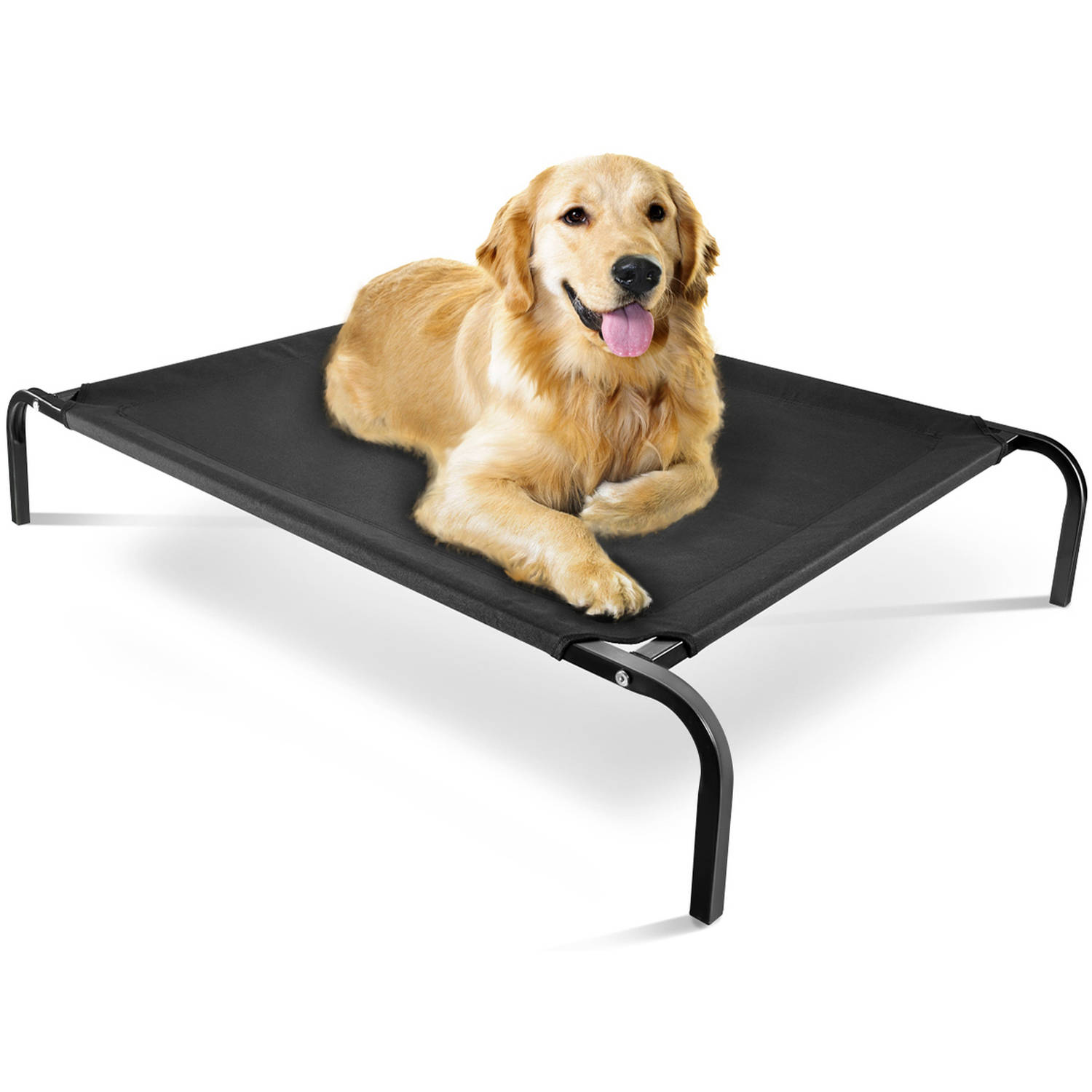 Oxgord Travel Gear Approved Steel-Framed Portable Elevated Pet Bed, Black
