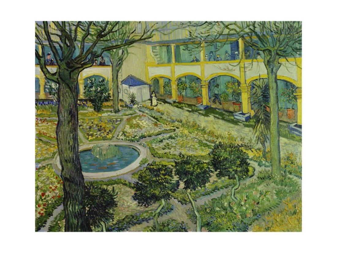 The Asylum Garden At Arles, 1889 Print By Vincent Van Gogh