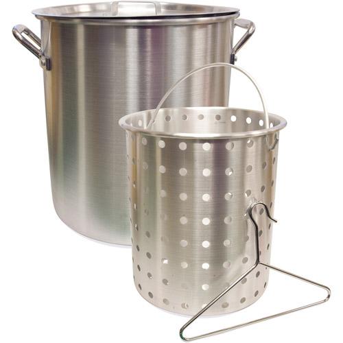 Camp Chef 3 Piece 42 qt Aluminum Fry and Steam Pot Set Pot