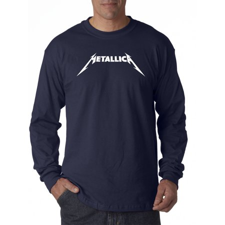 New Way 925 - Unisex Long-Sleeve T-Shirt Metallica Metal Rock Band Logo Medium Navy
