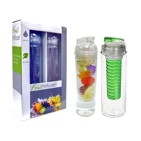 32oz Portable Leak Proof BPA Free Sport Fruit Fusion Infuser Water Bottle Mug (2 pc Set) Great For the Gym / Sport / Camping etc / Great Gift Idea](Sports Gifts)