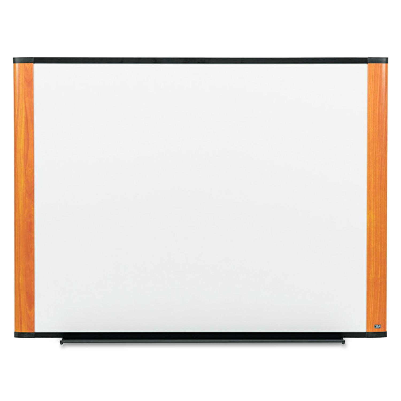 3M Melamine Dry Erase Board, 48 x 36, Light Cherry Frame by 3M/COMMERCIAL TAPE DIV.