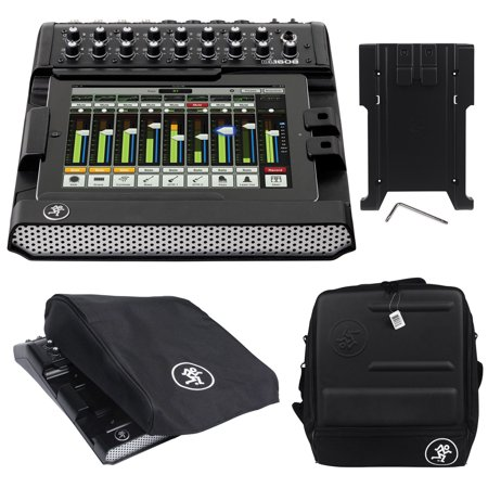 Mackie DL1608 Lightning 16-ch. Mixer w/lPad Control+Bag+iPad Tray Kit+Dust Cover Mackie Powered Mixer Bag