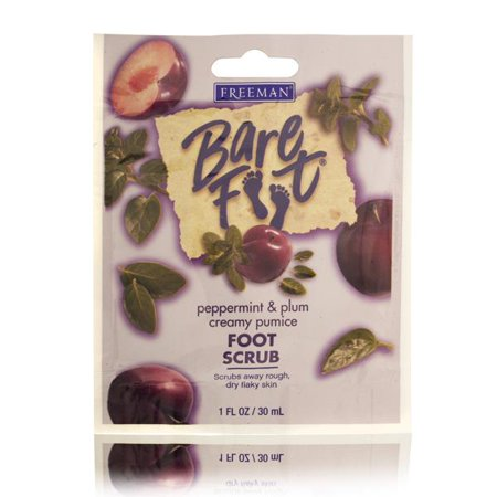 Freeman Bare Foot Peppermint & Plum Foot Scrub 30ml/1oz