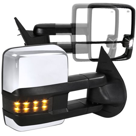Spec-D Tuning For 2007-2013 Chevy Silverado Sierra Facelift Smoke Led Signal Power + Heated Towing Mirrors 2007 2008 2009 2010 2011 2012