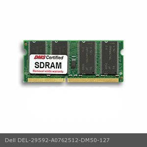 256mb Pc100 Sodimm 144 Pin - DMS Compatible/Replacement for Dell A0762512 Latitude CPx H-Series 256MB DMS Certified Memory LP 1.15