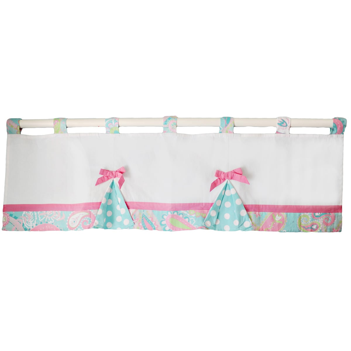 My Baby Sam Pixie Baby Curtain Valance in Aqua by Overstock