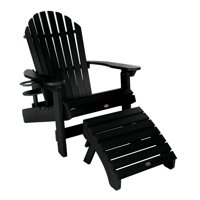 1 King Hamilton Folding & Reclining Adirondack Chair with 1 Folding Ottoman and 1 Cupholder