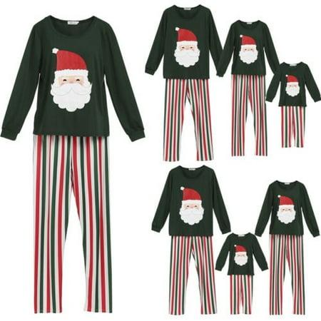 Family Matching Kids Mom Dad Christmas Pajamas PJs Sets Sleepwear Nightwear - Kids Christmas Pjs