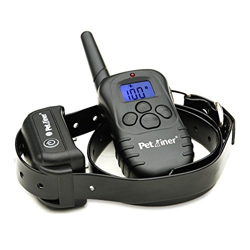 Petrainer PET998DB1 Dog Shock Training Collar, LCD Remote 1 Dog Training Collar, 330 Yards Rechargeable Waterproof Electric Collar With Light/Beep/Vibration/Static Operations