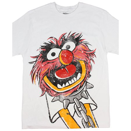 The Muppets I Am Animal Men's Adult Distressed T-Shirt
