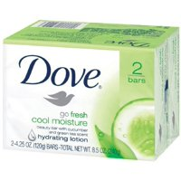 Dove Go Fresh Cool Moisture Beauty Bars, 4 oz bars, 2 ea (Pack of 2)