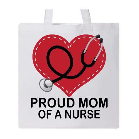 Mom of a Nurse Tote Bag White One Size