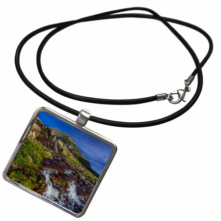 3dRose Oberlin Creek in Glacier National Park, Montana, USA - Necklace with Pendant (ncl_279222_1)