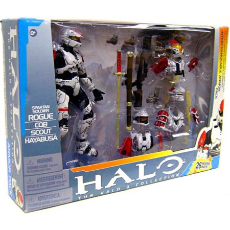 McFarlane Halo 3 Spartan Soldier Interchangeable Armor Pack Action Figure Set
