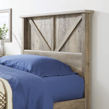 - Better Homes & Gardens Modern Farmhouse Twin Headboard, Rustic Gray Finish