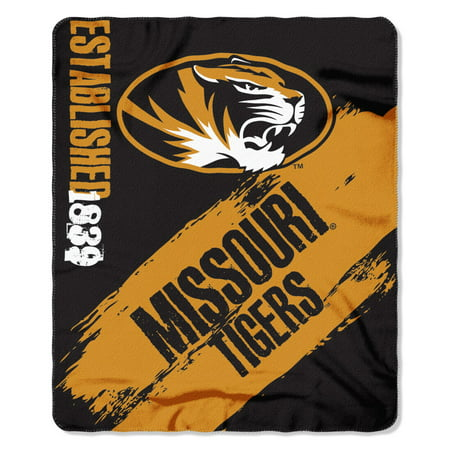 Missouri Tigers Painted Fleece Throw