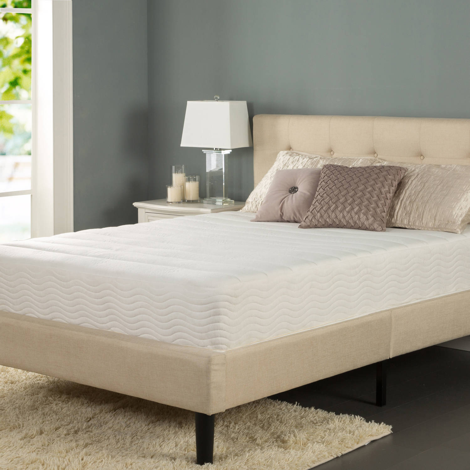 Spa Sensations 10'' Memory Foam and Spring Hybrid Mattress, Multiple Sizes