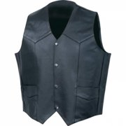 Rocky Mountain Hides Solid Genuine Buffalo Leather Vest- L