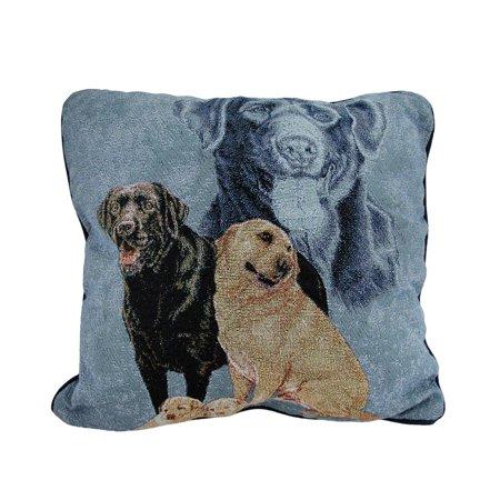 Labrador Retriever Family Tapestry Throw Pillow 17 X 17 Inch