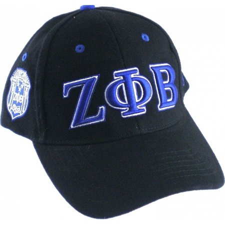 Buffalo Dallas Zeta Phi Beta Sorority, Inc. Low-Profile Ladies Cap [Black - Adjustable]