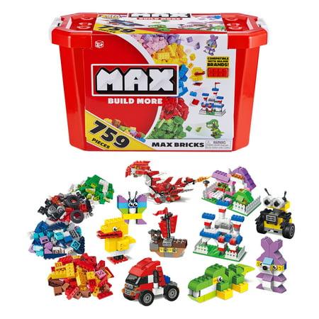 MAX Build More Premium Building Bricks Set (759 Bricks) - Major Brick Brands Compatible