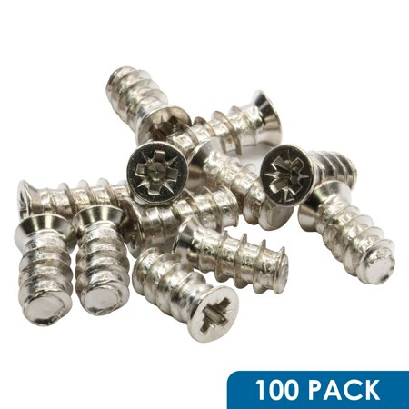 100 Pack Rok Hardware #6mm x 13mm (1/2') Pozi Cross Flat Head Euro Screws Type B Point