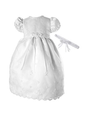 bacc96419 Product Image Embroidered Organza Dress with Satin Bodice and Pearl  Neckline (Baby Girl)