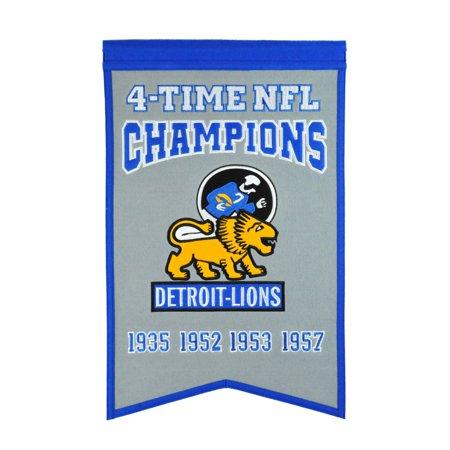 Winning Streak NFL Champions Banner, Detroit Lions