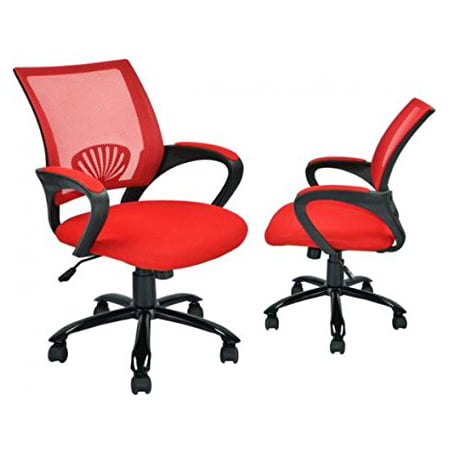 sets of 2 ergonomic mesh computer office desk task chair w metal