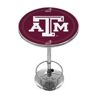 "NCAA Texas A&M University 42"" Pub Table, Chrome"
