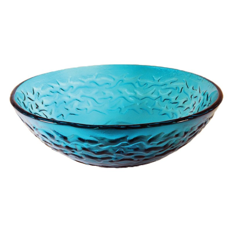 Novatto Mare Glass Vessel Sink - Ocean Blue