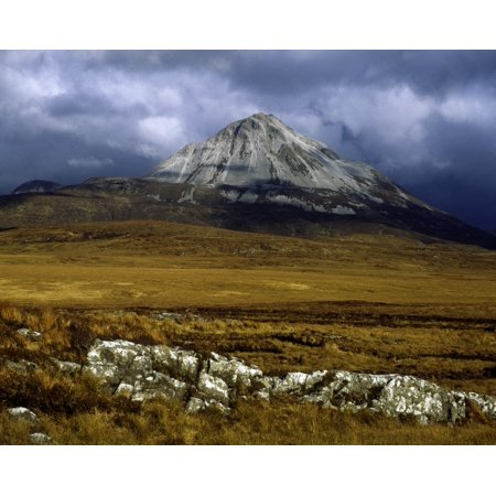 (County Donegal Mount Errigal Ireland Canvas Art - The Irish Image Collection  Design Pics (16 x 12))