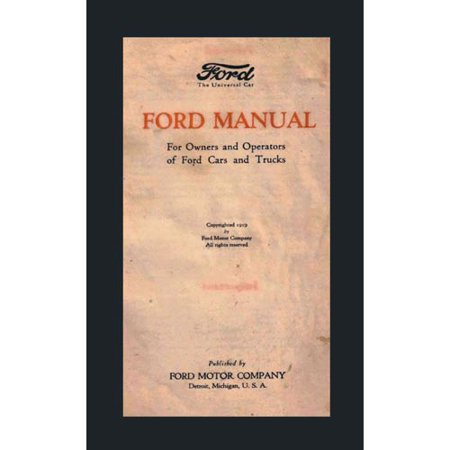 Ford Manual  For Owners And Operators Of Ford Cars And Trucks  1939