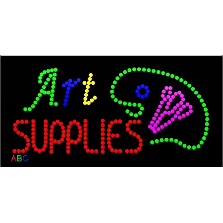 """12""""x24"""" ABC LED Signs Art Supplies LED Sign w/Flashing Controller"""