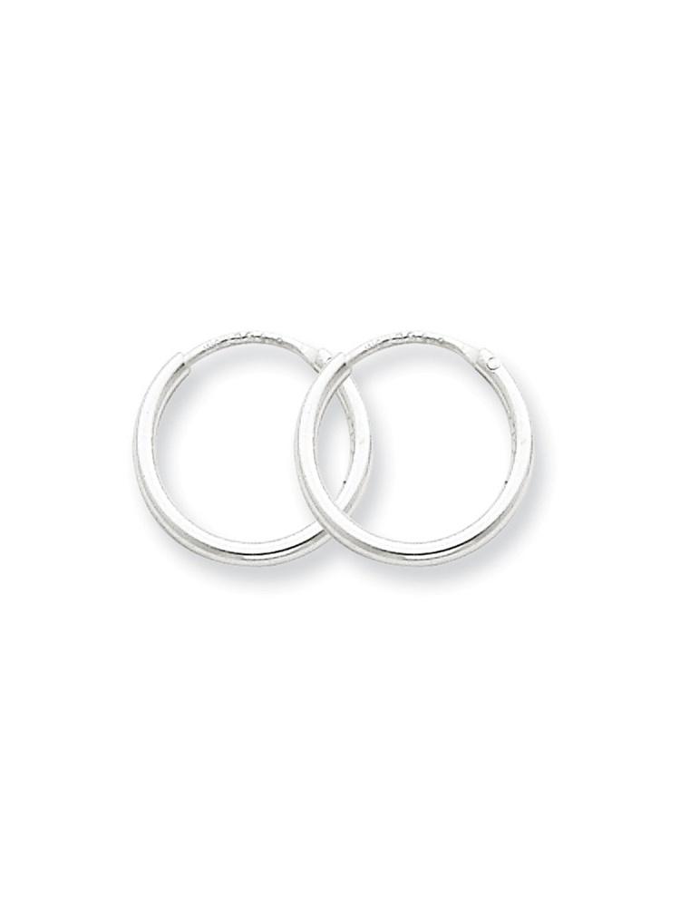 11mm x 12mm Mia Diamonds 925 Sterling Silver Hoop Earrings
