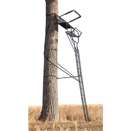 big game treestands rut hunter 2 person 17 39 ladder stand. Black Bedroom Furniture Sets. Home Design Ideas