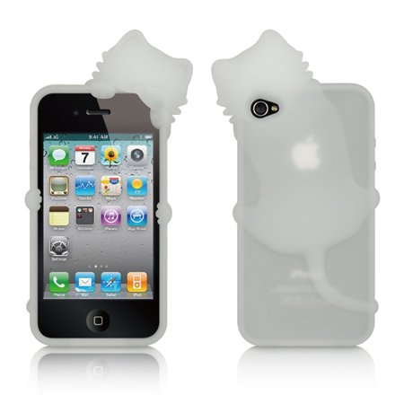 4s Soft Silicone (iPhone 4s case by Insten Rubber Silicone Soft Skin Gel Case Cover For Apple iPhone 4/4S )