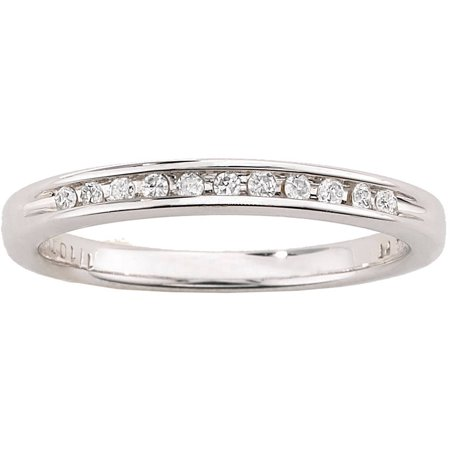 Image of Always & Forever Platinaire 1/12 Carat T.W. Diamond Wedding Band